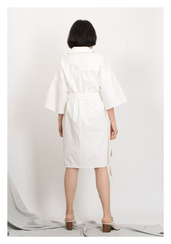 Safari Pocket Dress White
