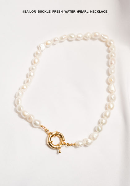 Sailor Buckle Fresh Water Pearl Necklace - whoami