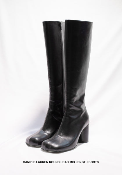Sample Shoes - Lauren Round Head Mid Length Boots - whoami