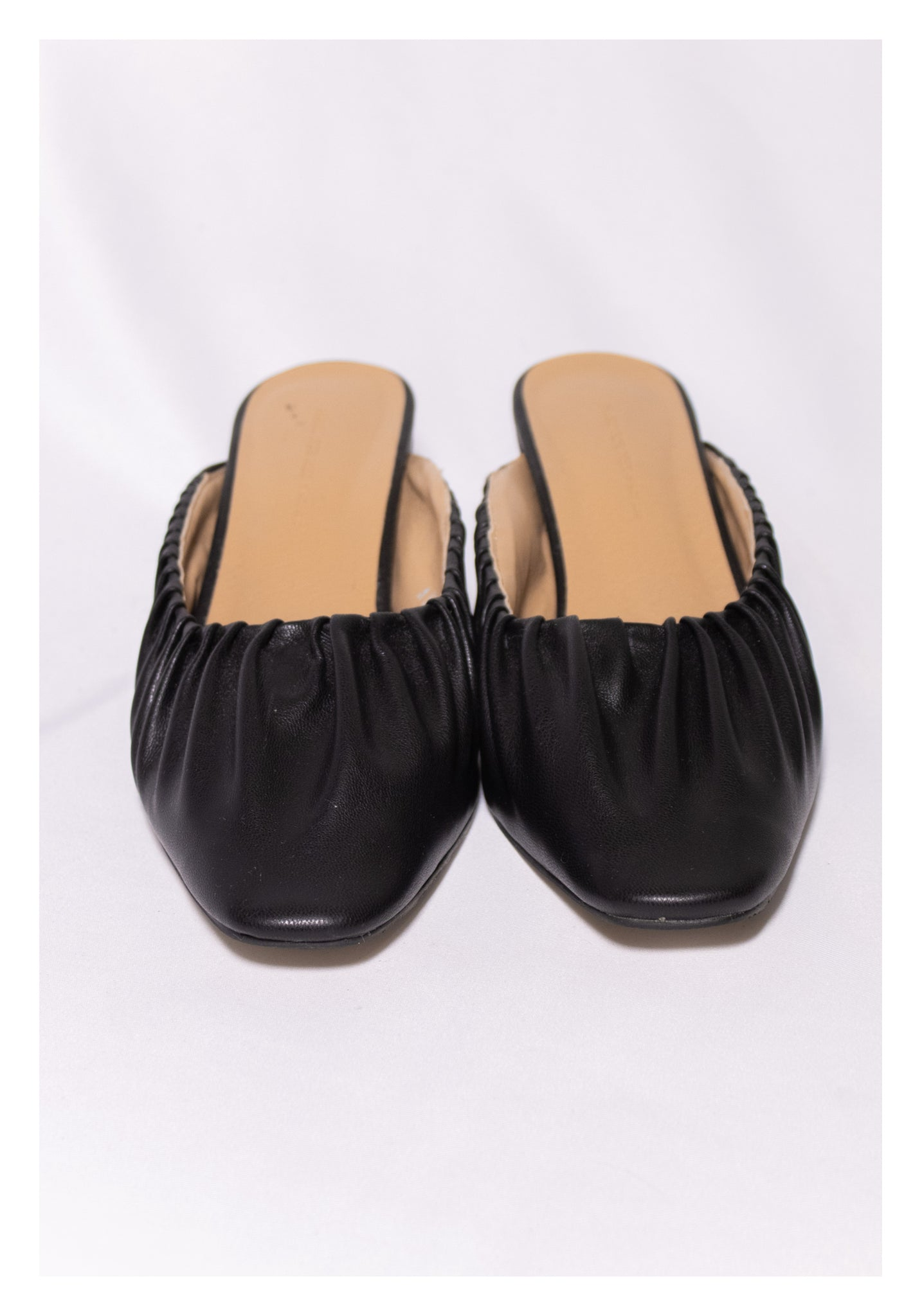Sample Shoes - Anais Gathered Edge Mules Black