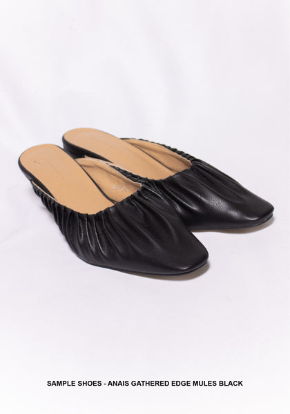 Sample Shoes - Anais Gathered Edge Mules Black - whoami