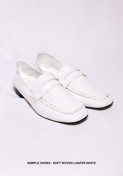 Sample Shoes - Soft Woven Loafer White - whoami