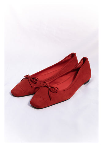 Sample Shoes - Suede Ballernia Red - whoami