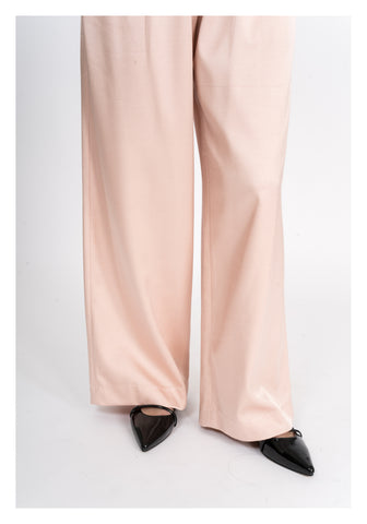 Satin Drawstring Wide Leg Pants Pink - whoami