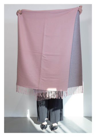 Double Face Cashmere Scarf Light Pink - whoami