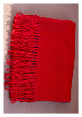 Double Face Cashmere Scarf Red - whoami