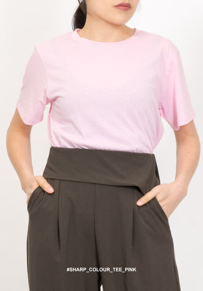 Sharp Colour Tee Pink
