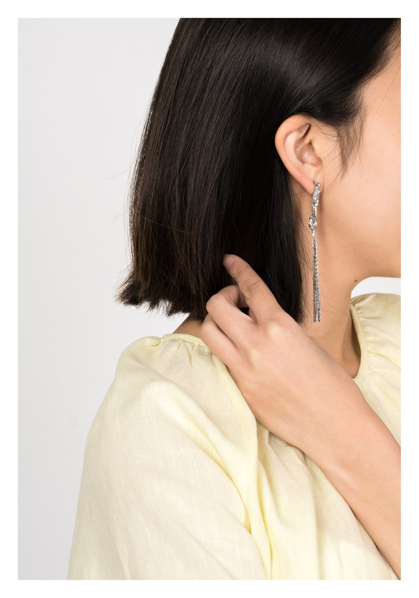 Shimmering Knot Long Earrings - whoami