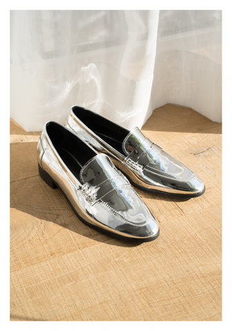 Shinny Loafer Silver