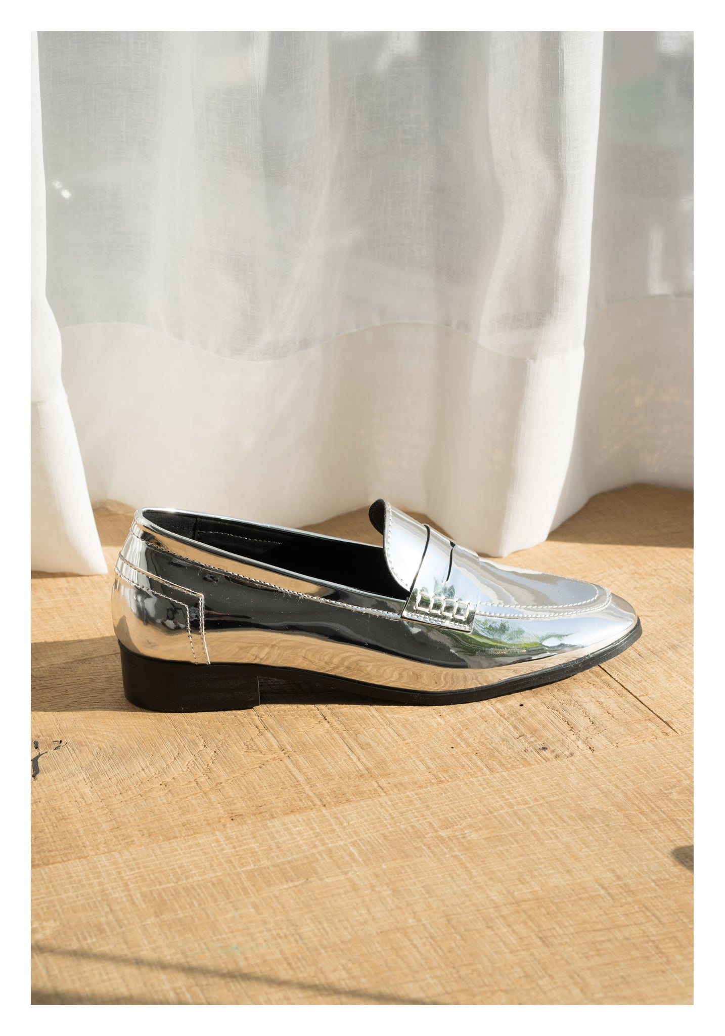 Shinny Loafer Silver - whoami