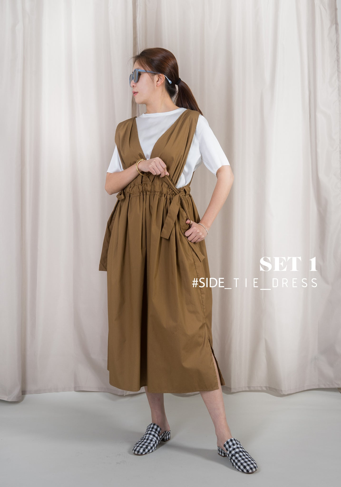 Side Tie Dress Set 1