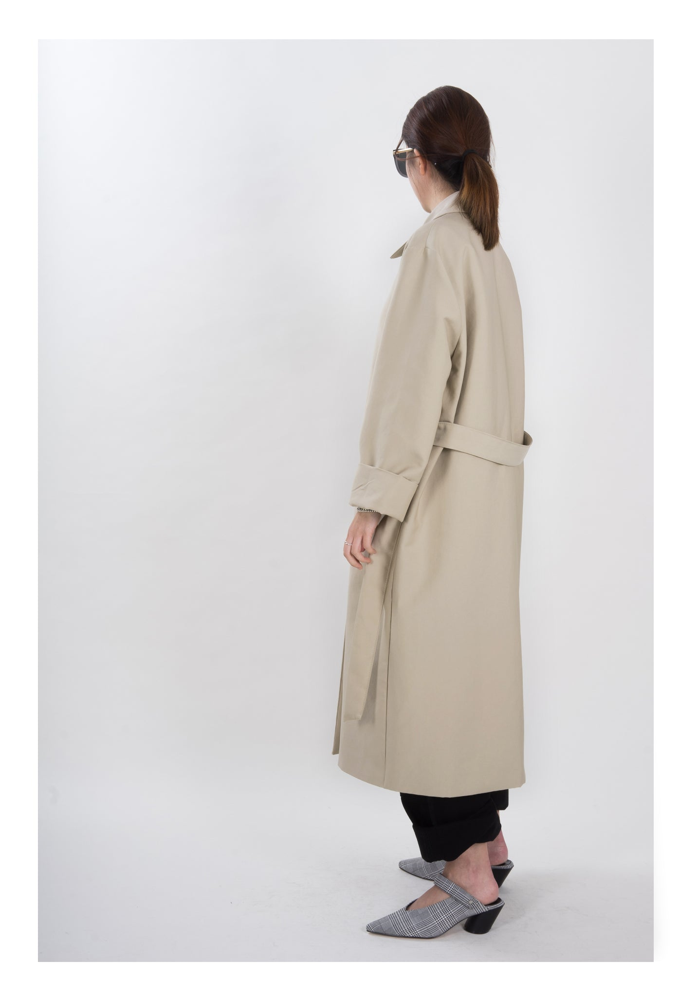 Single Breasted Trench Coat Beige