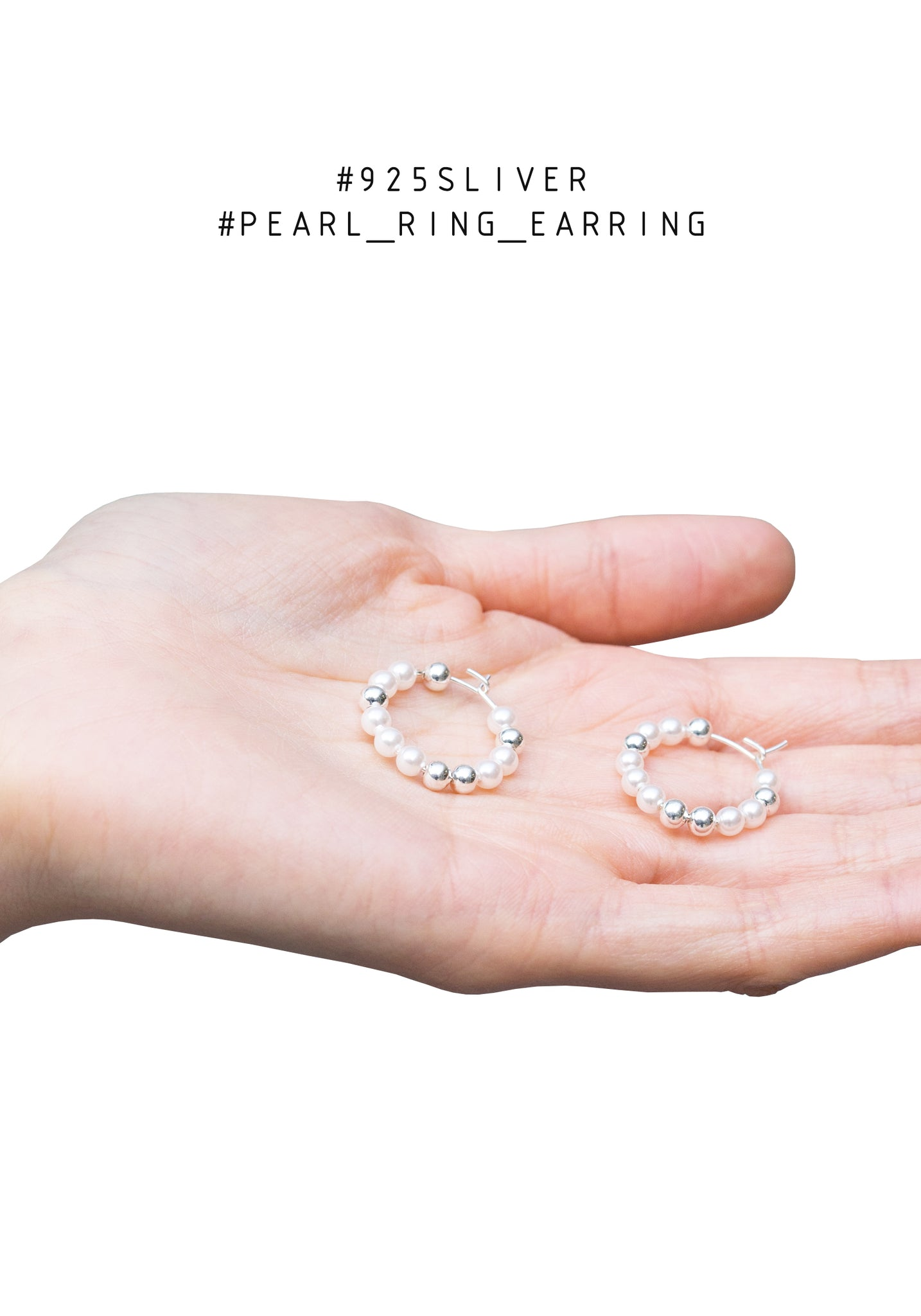 925 Silver Pearl Ring Earrings