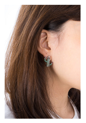 Sparkle Pearl Cactus Earrings - whoami