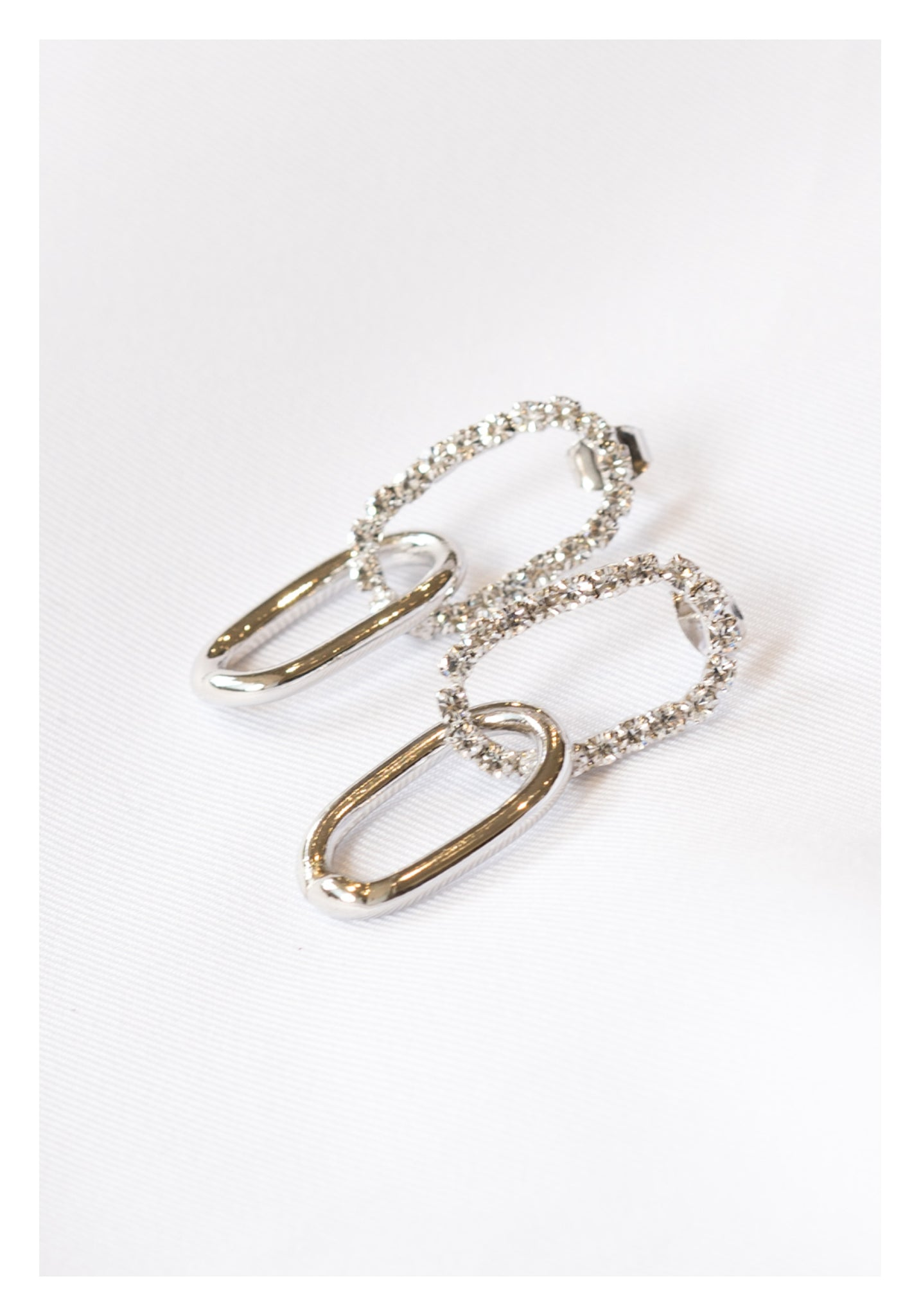 Sparkle Chain on Chain Earrings Silver - whoami