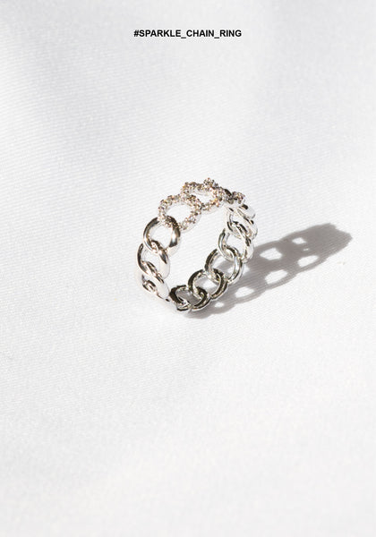 Sparkle Chain Ring - whoami