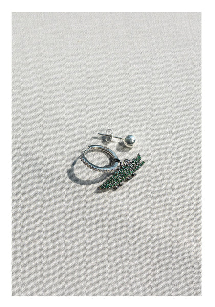 Sparkle Crocodile Earrings - whoami