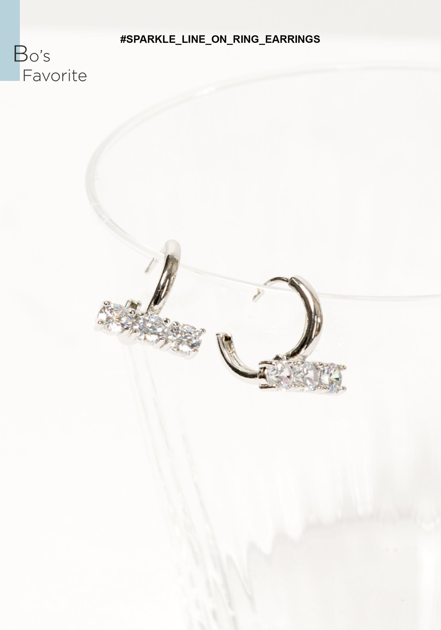 Sparkle Line On Ring Earrings - whoami