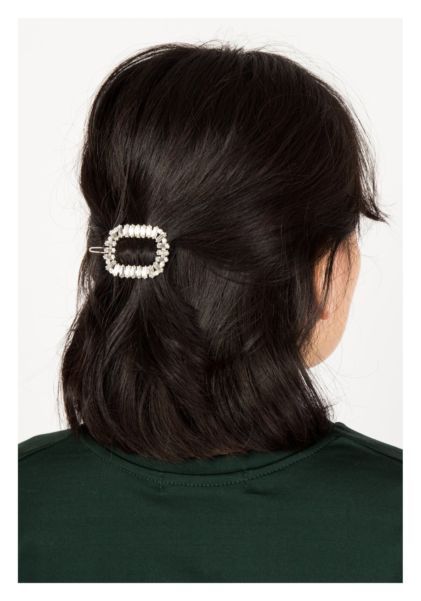 Sparkle Rectangle Ring Hair Clip - whoami