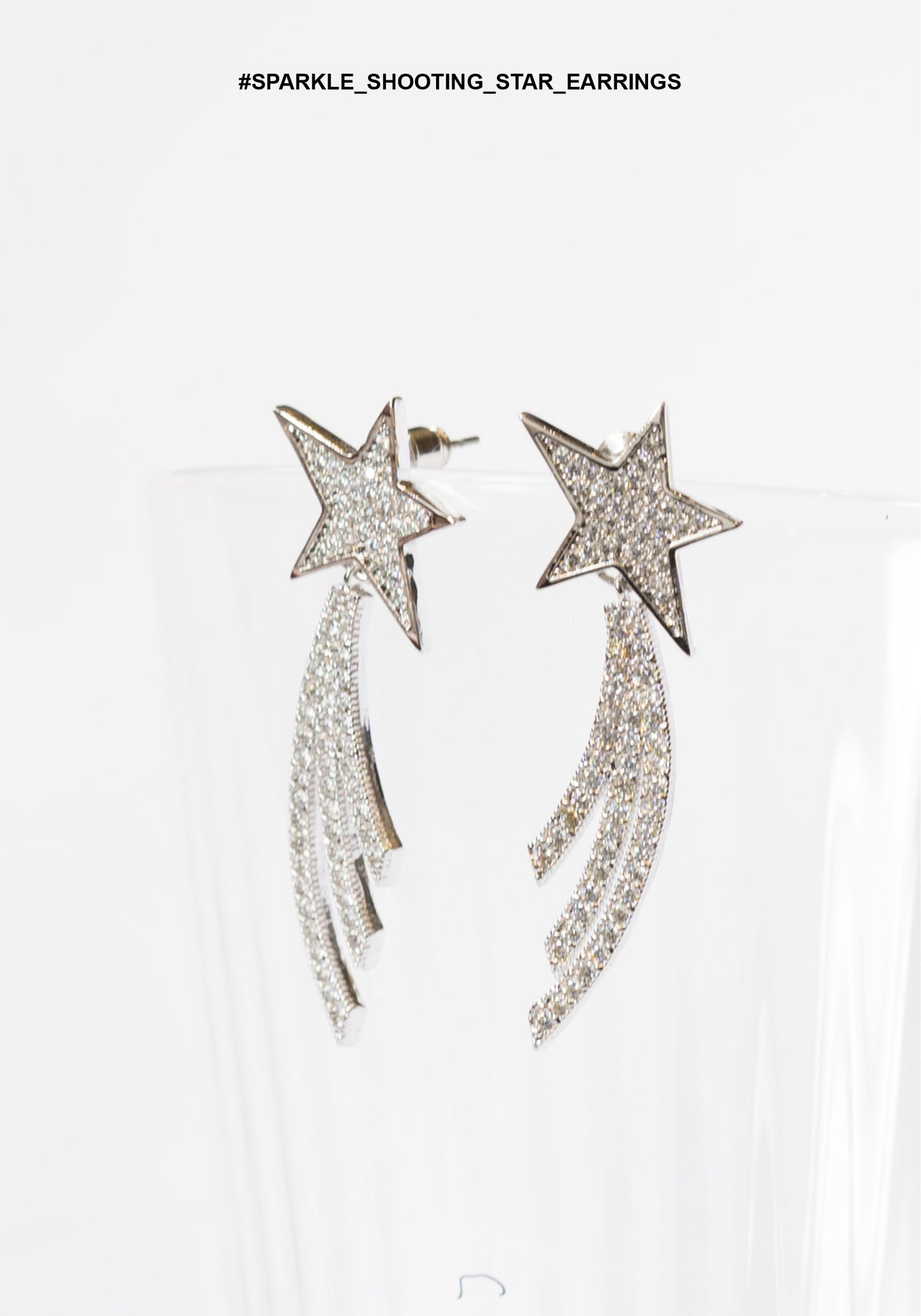 Sparkle Shooting Star Earrings - whoami