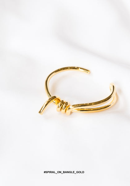 Spiral On Bangle Gold - whoami