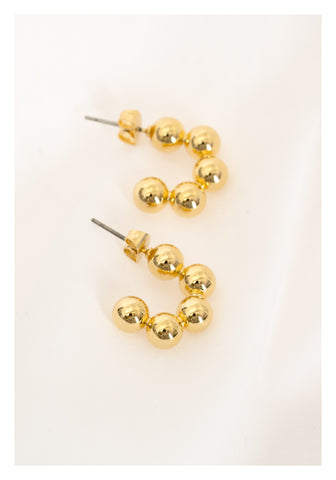 Standing Donut Earrings Gold - whoami