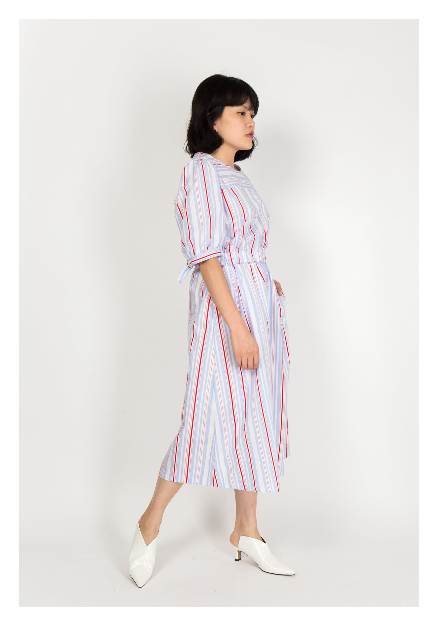 Stripe Pocket Dress Blue