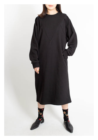Comfy Sweater Dress Black - whoami