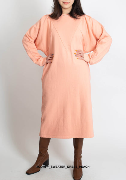 Comfy Sweater Dress Peach - whoami