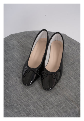 Sample Shoes - Ballerina Heels Black