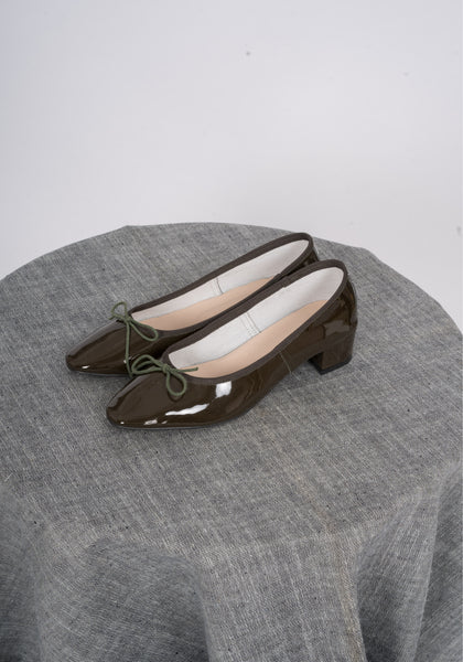 Sample Shoes - Ballerina Heels Dark Green