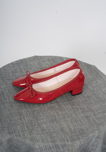 Sample Shoes - Ballerina Heels Red