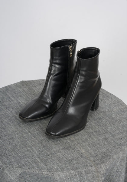 Sample Shoes - Middle Seam Block Heels Ankle Boots