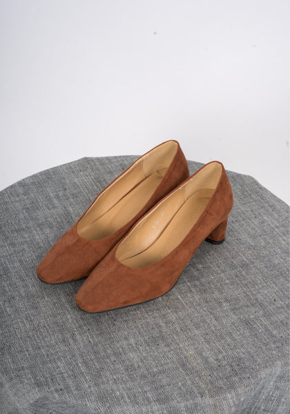 Sample Shoes - Bijou Suede Heels