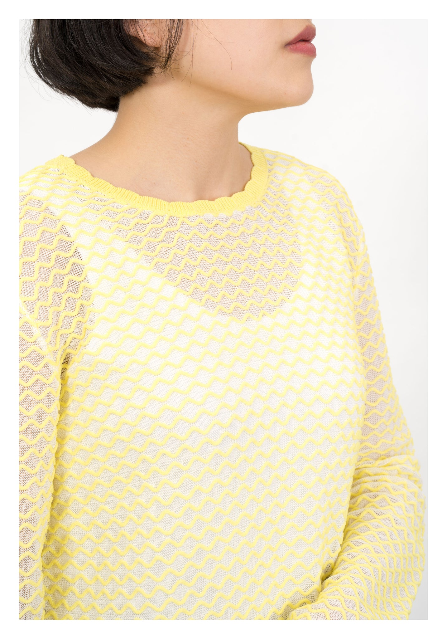 Scallop Knitted Top Yellow - whoami