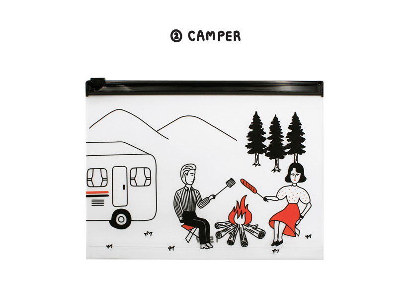 Clear Pouch Set Camper (2pcs) - whoami