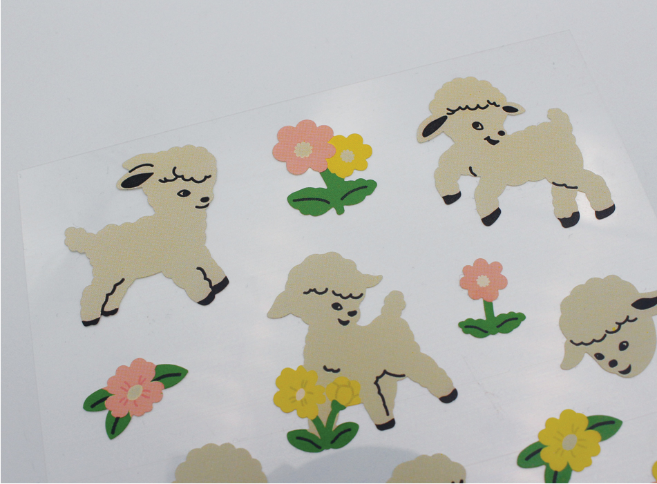 Removable Sticker Vintage Lamb - whoami