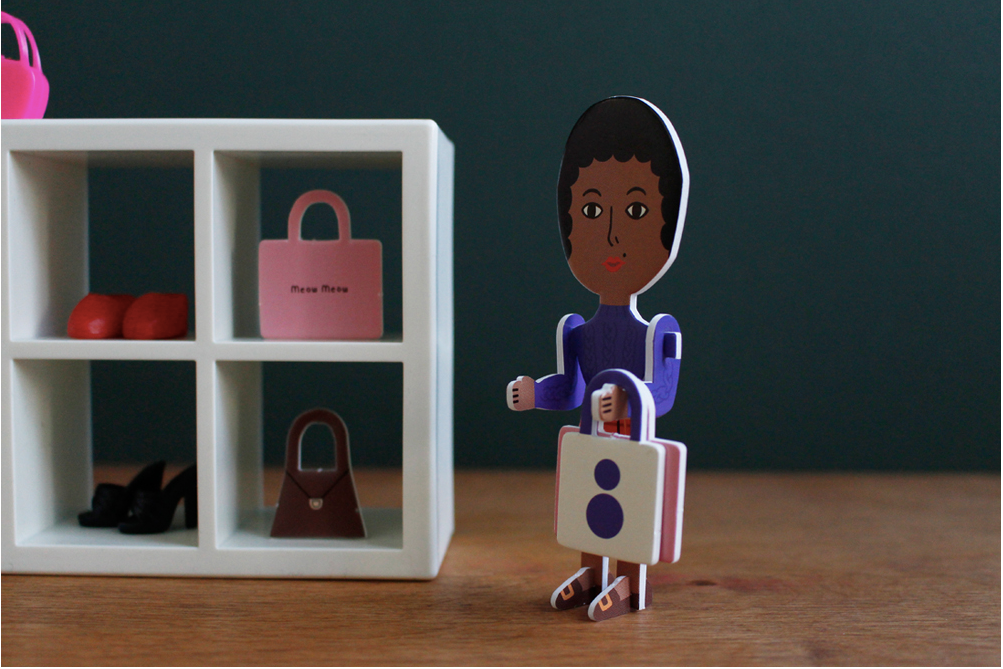 Paper Toy Phoebe Likes Shopping - whoami