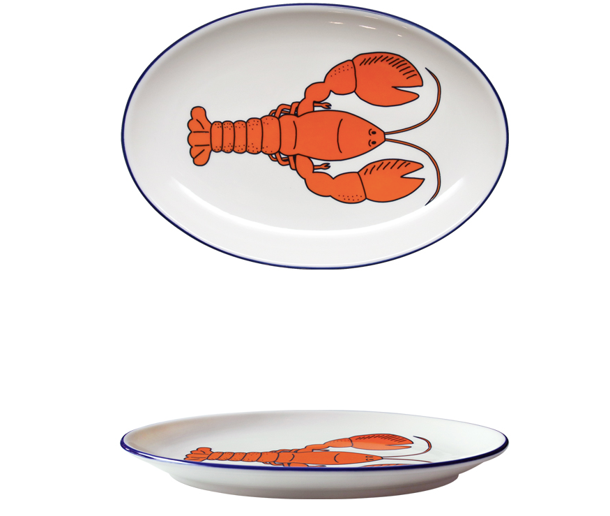 Oval Plate Lobster Large - whoami