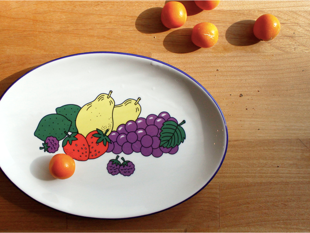 Oval Plate Happy Fruit - whoami