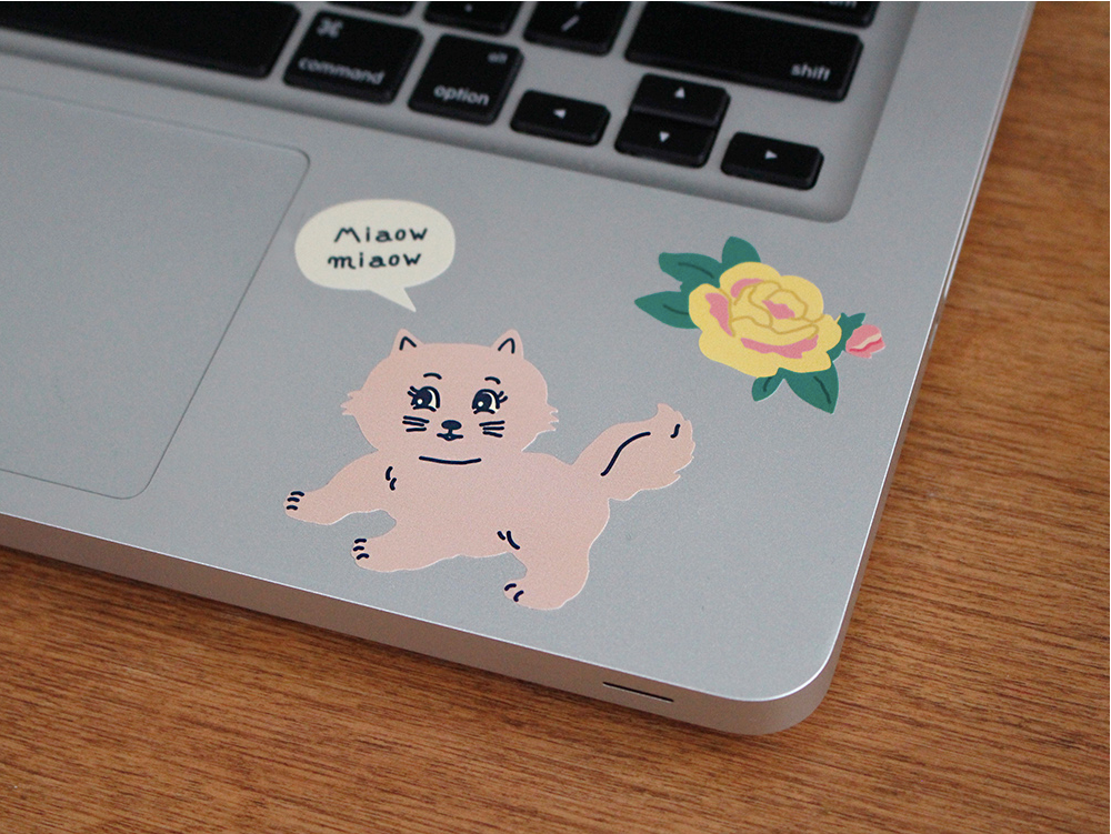 Removable Sticker The Meow - whoami