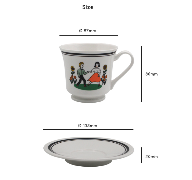 CUP AND SAUCER Milkmaid - whoami