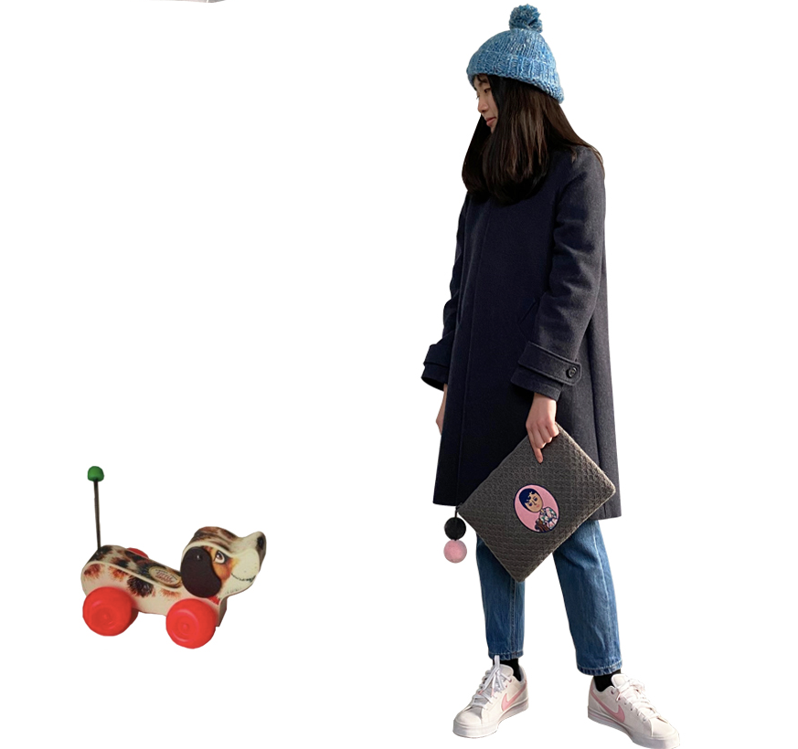 Knit Pompom Clutch Bag ver.2  Aurore And Jean Paul - whoami