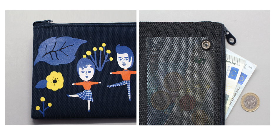 Aurore And Friend Double Zipper Pencil Case - whoami
