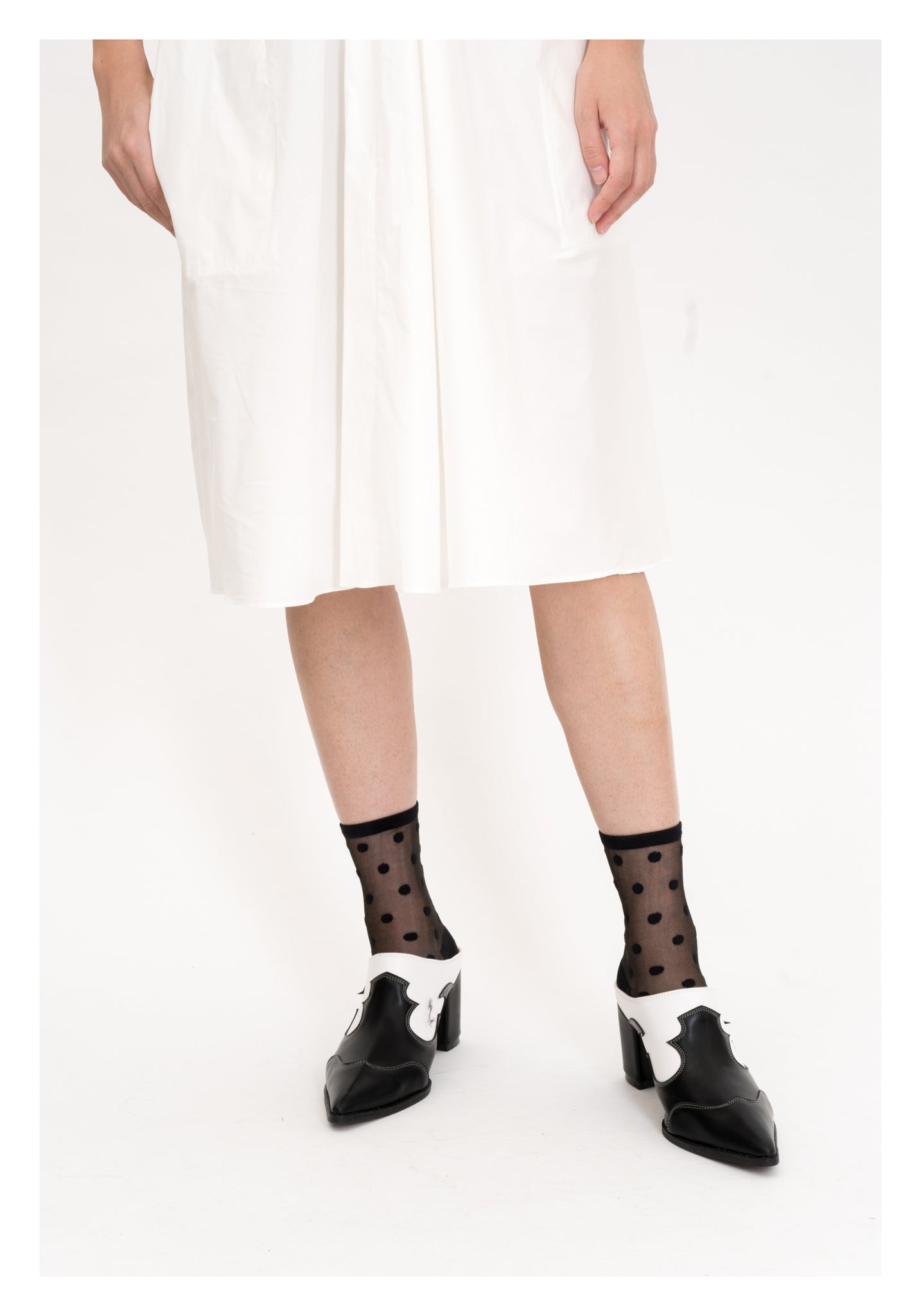 See Through Black Dot Socks Black - whoami