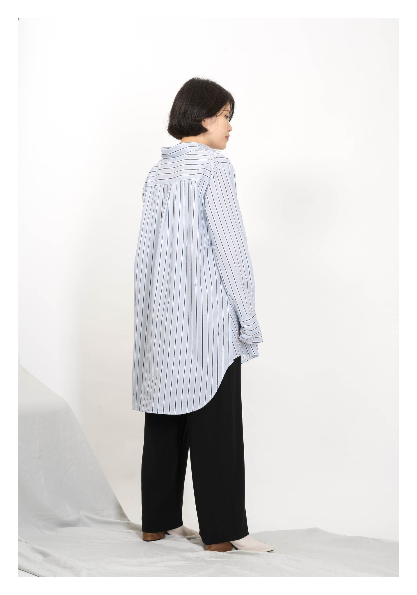Side Buttons Fine Shirt Stripe - whoami