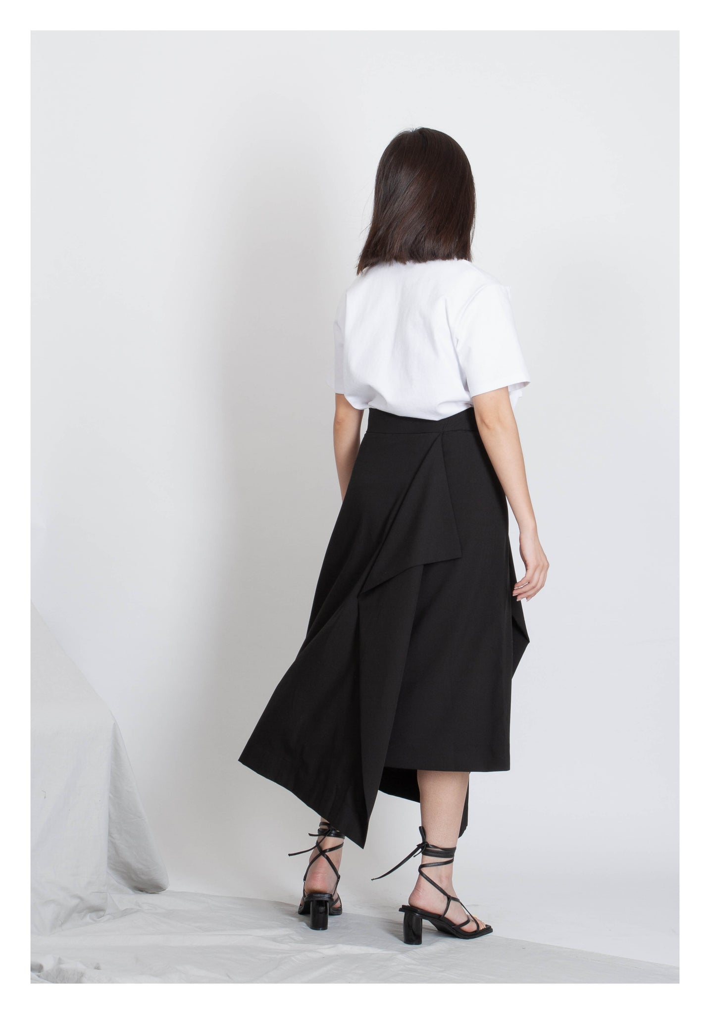 Side Folding Skirt Black - whoami