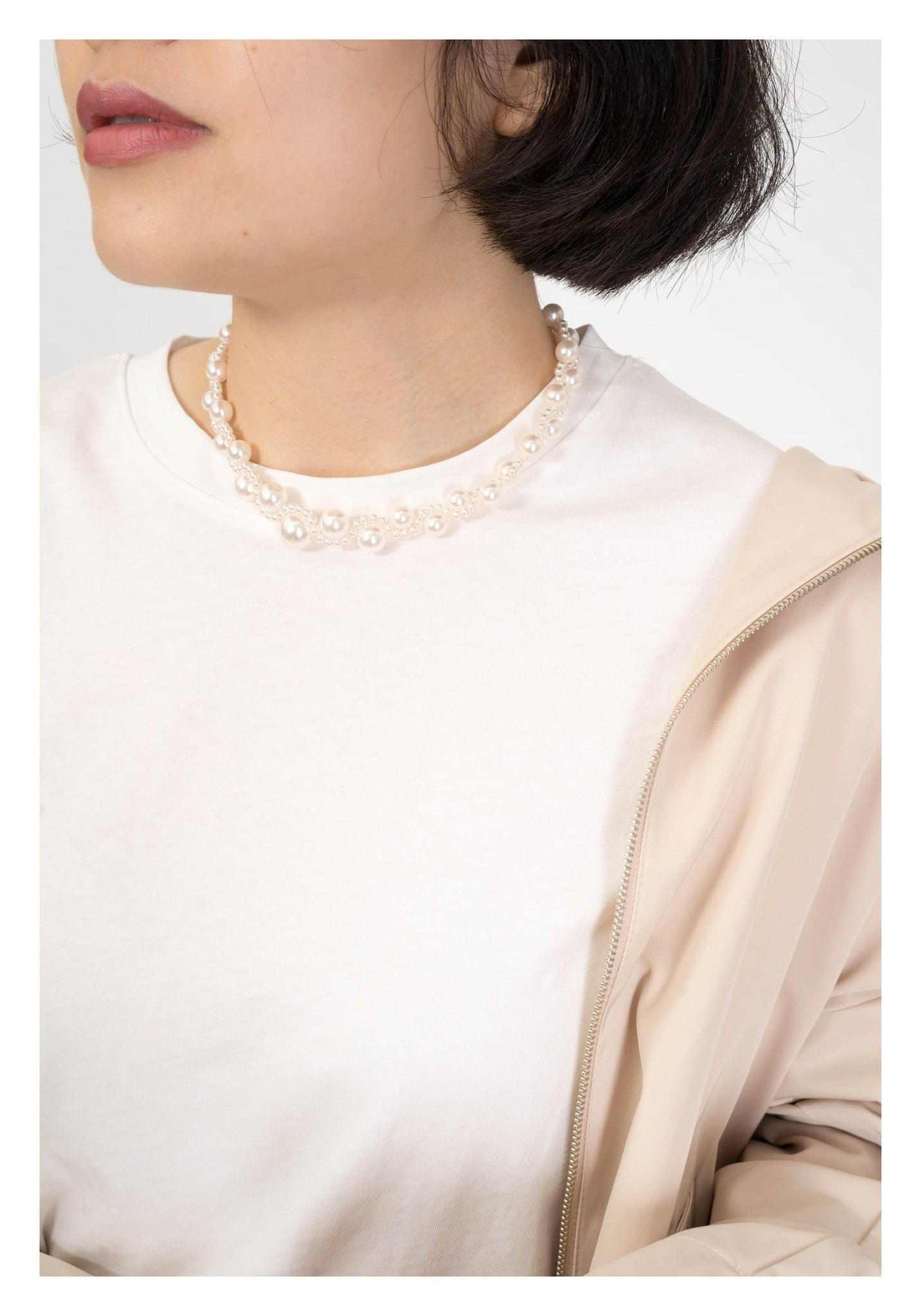 Wavy Faux Pearl Necklace - whoami