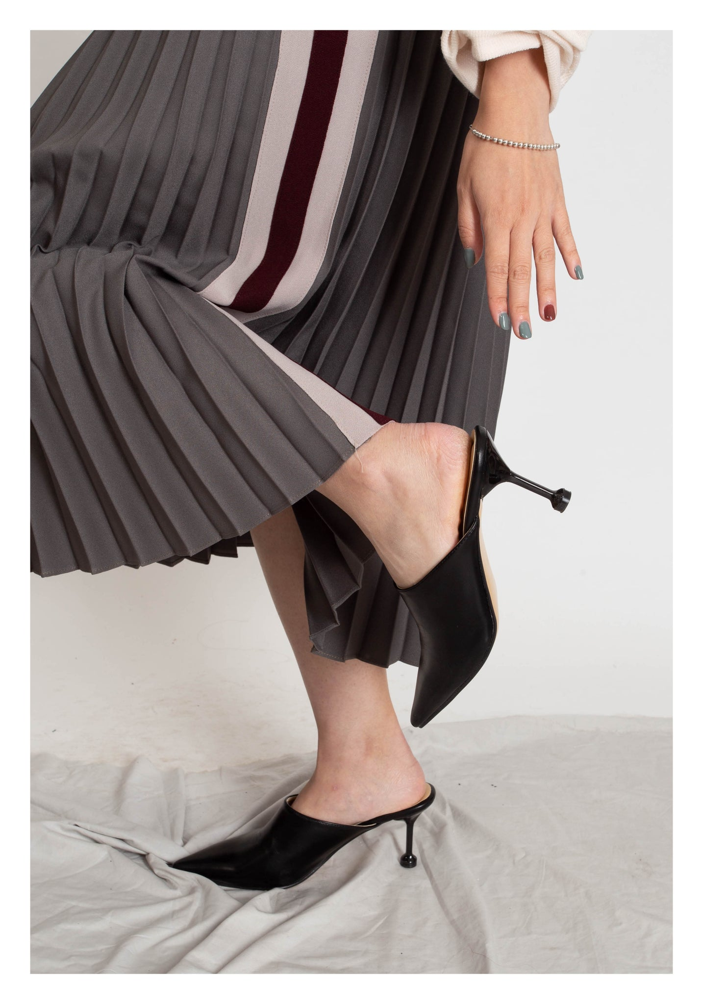Stick Heels Pointed Mules Black - whoami