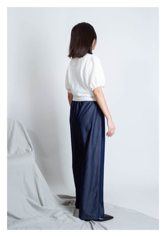 Soft Denim Wide Leg Pants - whoami
